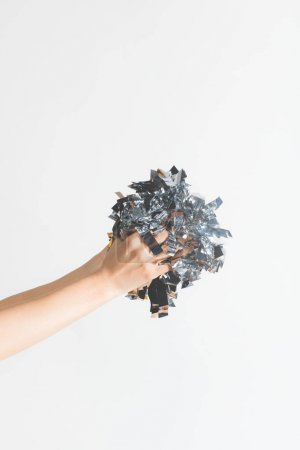 woman holding confetti in hands