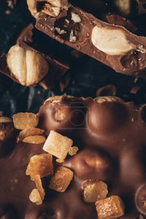 milk chocolate with nuts pieces