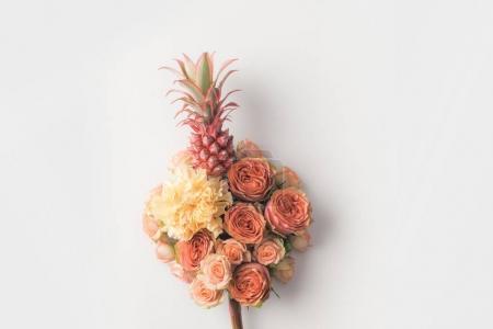 pineapple in flowers bouquet
