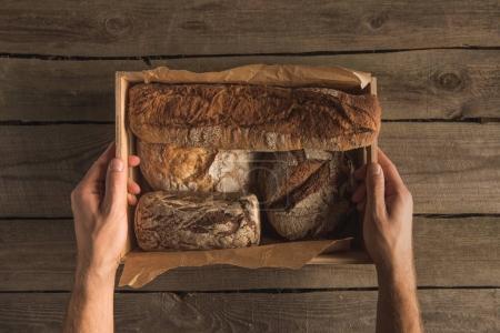 variety of fresh homemade bread