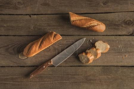 baguette and knife