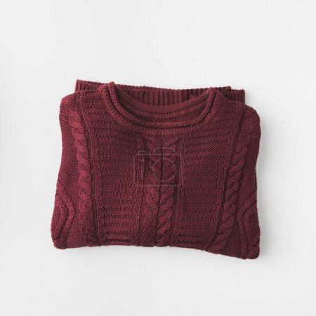 marsala knitted sweater