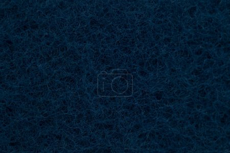 texture of dark blue washing kitchen sponge