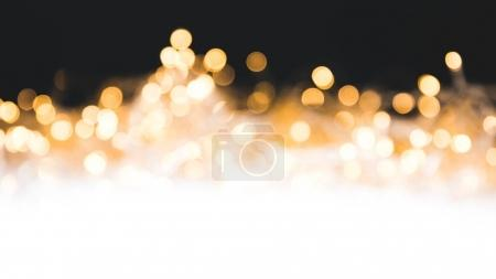 Photo for Christmas background with shiny blurred lights - Royalty Free Image