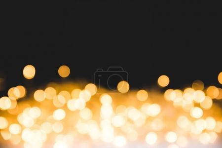 festive bright lights on dark christmas background