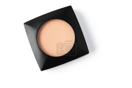 Photo for Top view of cosmetic powder in black plastic container - Royalty Free Image