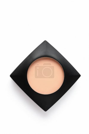top view of cosmetic powder in plastic container