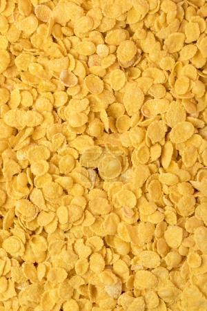 Photo pour Fond plein cadre de délicieux flocons de maïs croustillants - image libre de droit