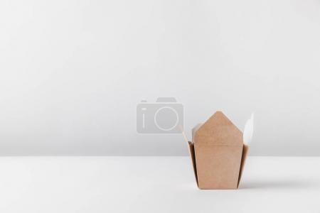 one noodles box on white table