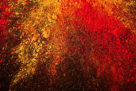 Photo for Colorful holi powder explosion on black - Royalty Free Image