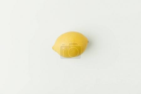 Photo for Ripe yellow lemon isolated on white background - Royalty Free Image