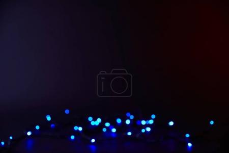 Photo for Abstract dark background with blue bokeh - Royalty Free Image