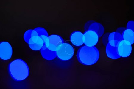 abstract dark blue shining bokeh background