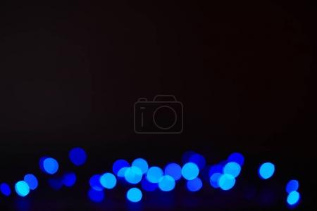 abstract dark blue shining bokeh texture