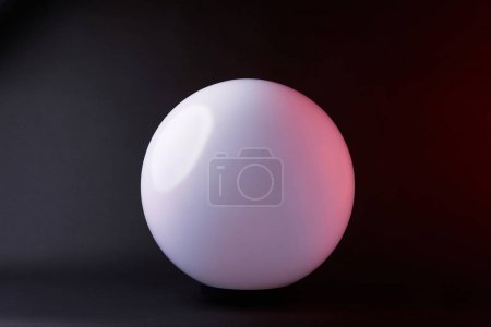 one white spherical lamp isolated on black