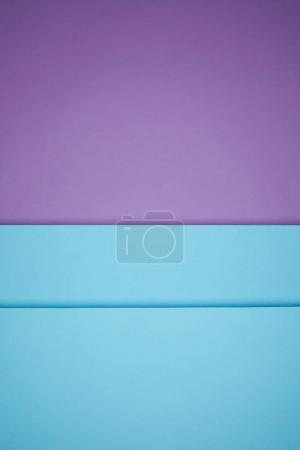 Photo for Beautiful bright blue and violet geometric paper background - Royalty Free Image