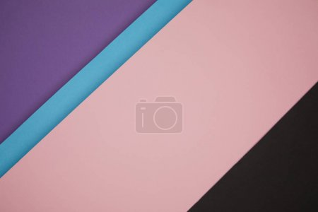 Photo for Colorful abstract geometric background made from colored paper - Royalty Free Image