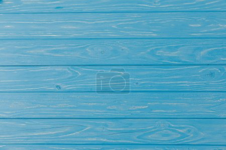 Photo for Wooden blue striped textured background - Royalty Free Image