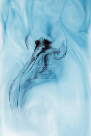 abstract blue background with ink splash