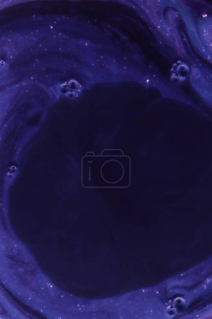 abstract dark purple background with paint and bubbles