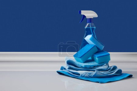 blue domestic supplies for spring cleaning