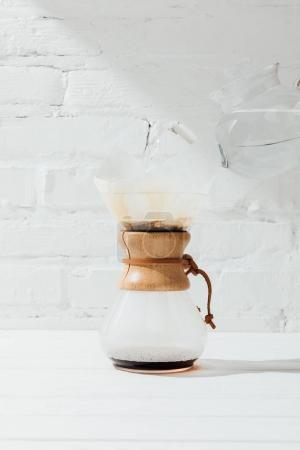 Alternative coffee in chemex with filter cone
