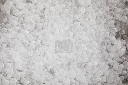 full frame shot of crushed ice for food freezing