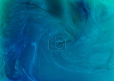 creative background with blue flowing paint