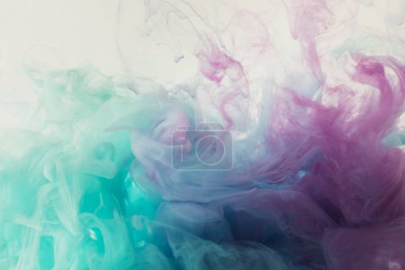 Photo for Abstract background with mixing blue and purple watercolor paint - Royalty Free Image