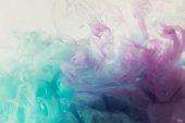 """Постер, картина, фотообои """"Абстрактный фон с смешивать синий и фиолетовый акварельные краски"""""""