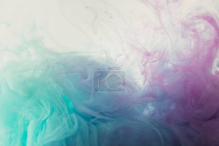 Photo for Abstract background with flowing blue and purple paint - Royalty Free Image