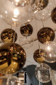 Decorative modern shiny spherical chandelier