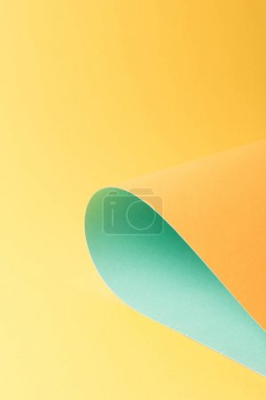 beautiful creative bright orange and blue paper background
