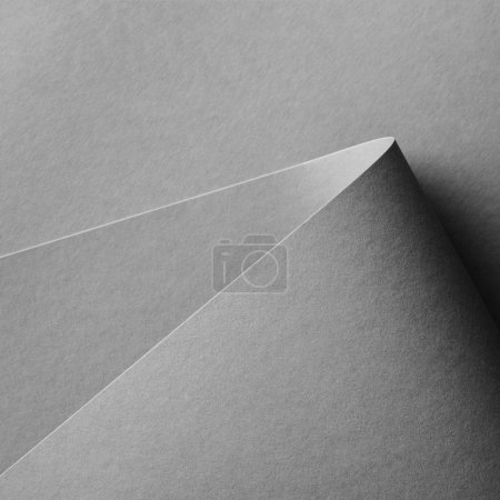 close-up view of grey empty paper background