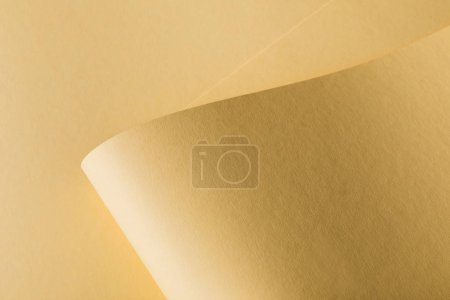 close-up view of yellow paper abstract background