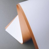 empty white and brown paper sheets on grey creative background
