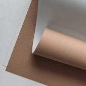 white and brown paper sheets on grey background