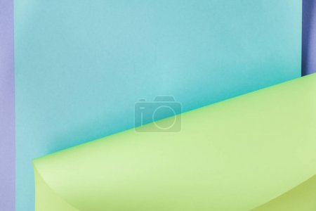 Photo for Beautiful creative blue and green colored paper abstract background - Royalty Free Image