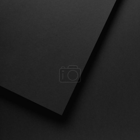 Photo for Black blank abstract textured paper background - Royalty Free Image