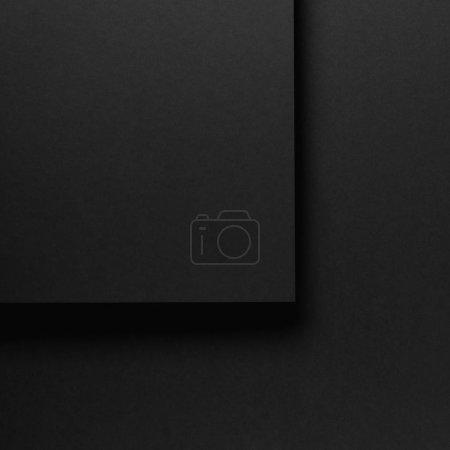 Photo for Black abstract textured paper background - Royalty Free Image