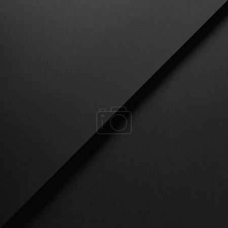Foto de Vista de primer plano del fondo de papel negro vacío - Imagen libre de derechos