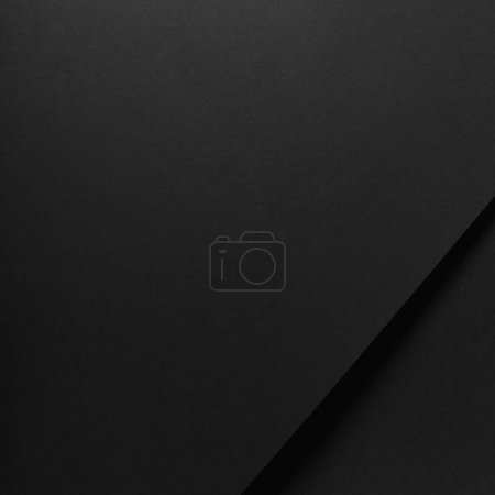 close-up view of blank black paper background