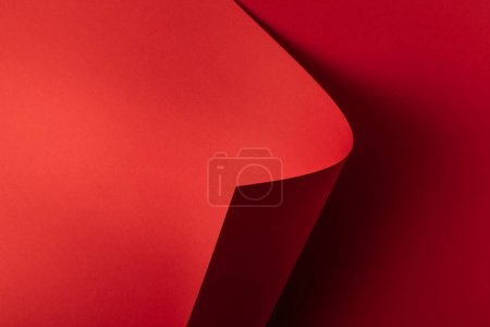 bright red empty abstract paper background