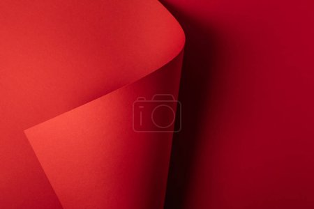 Photo for Bright red decorative paper abstract background - Royalty Free Image