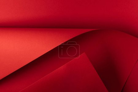 close-up view of bright red decorative paper background