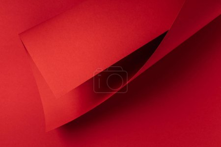 Photo for Close-up view of bright red abstract paper background - Royalty Free Image