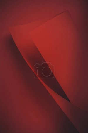 close-up view of red dark decorative paper background