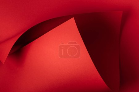 close-up view of red decorative paper abstract background