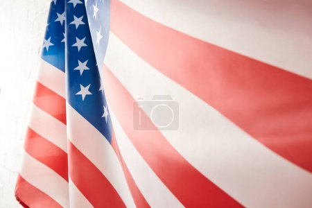 close up view of united states of america flag