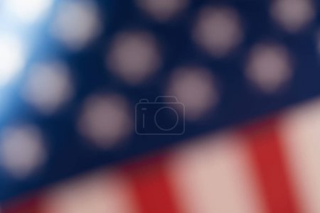 Photo for Blurred image of united states of america flag - Royalty Free Image